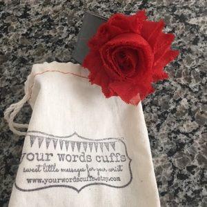 your words cuffs